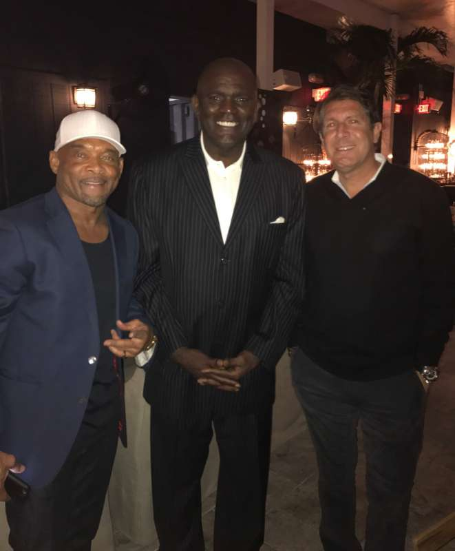 Floyd Raglin, Lawrence Taylor and Michael Capponi