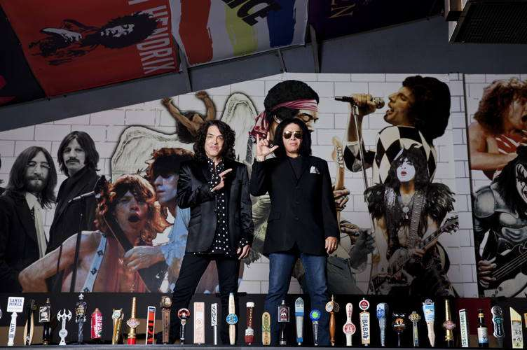 KISS artists and Rock and Brews owners Paul Stanley, left, with Simmons
