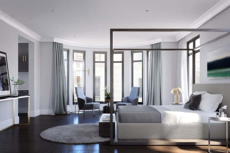Rendering of Master Bedroom Suite