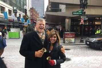 Maria Stephanos and Governor Charlie Baker