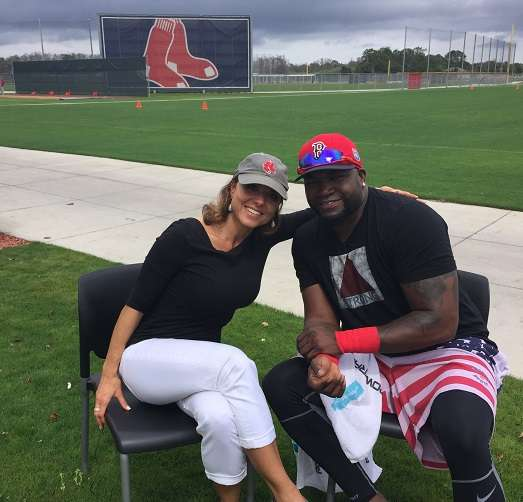 Maria Stephanos and David Ortiz