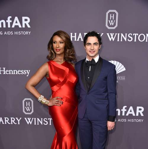 Iman attends the 19th Annual amfAR New York Gala at Cipriani Wall Street on February 8, 2017 in New York City.