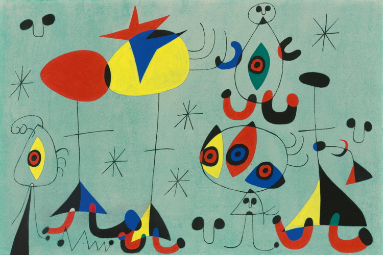 JOAN MIRÓ (1893-1983) Soirée snob chez la princesse, 1944. Courtesy of the Holly Nahmad Gallery, who will be exhibiting at the fair