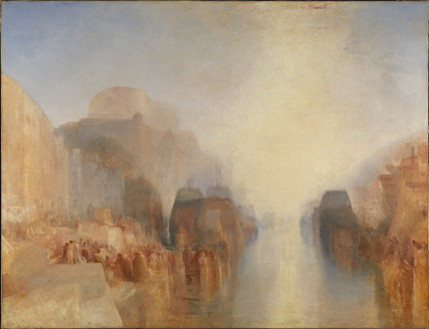 Turner, The Harbour of Brest: The Quayside and Chateau, N05514
