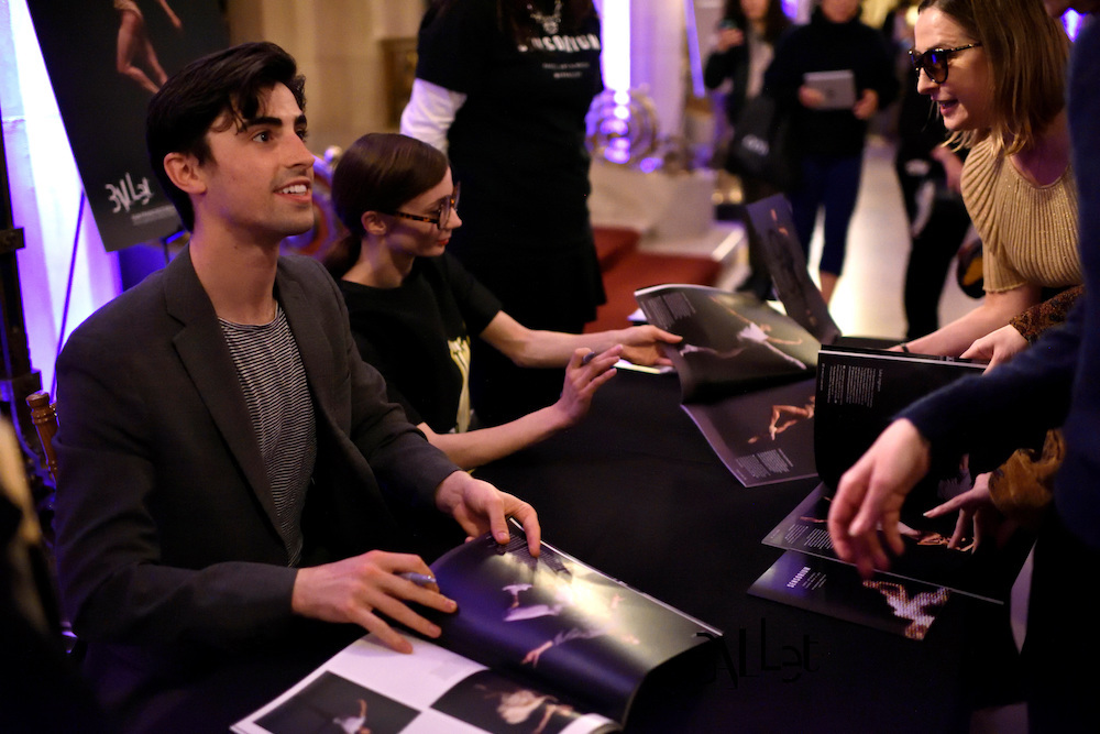Dancers Joseph Walsh and Maria Kochetkova sign copies of the Look Book during last year Sensorium event.