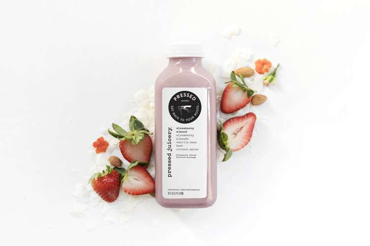 Strawberry Almond juice from Pressed
