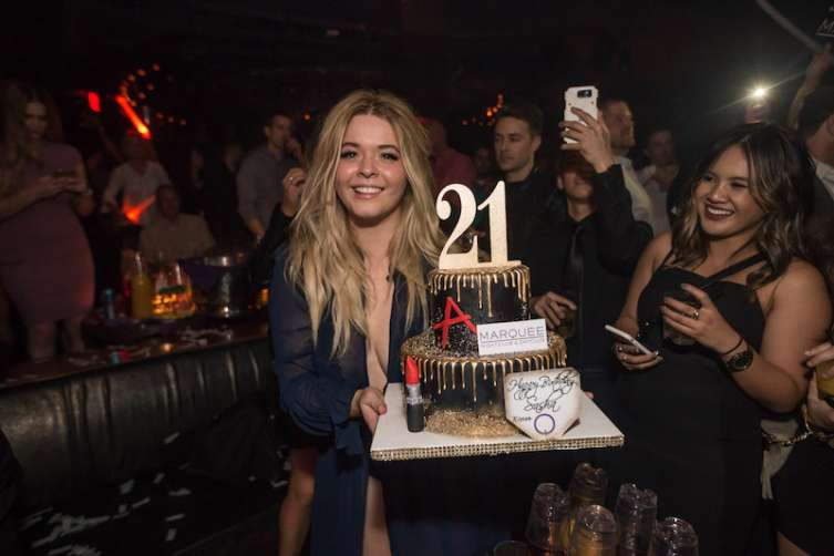 Sasha Pieterse celebrates her 21st birthday at Marquee.