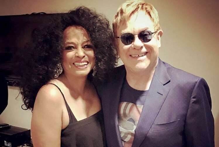 Diana Ross and Elton John