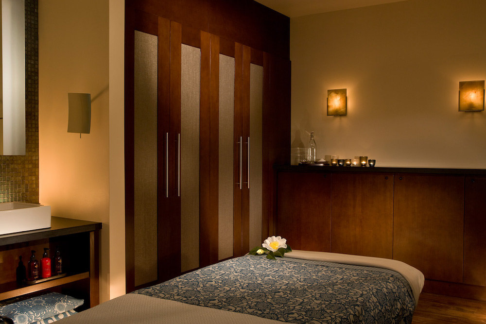 A spa treatment room at Bardessono