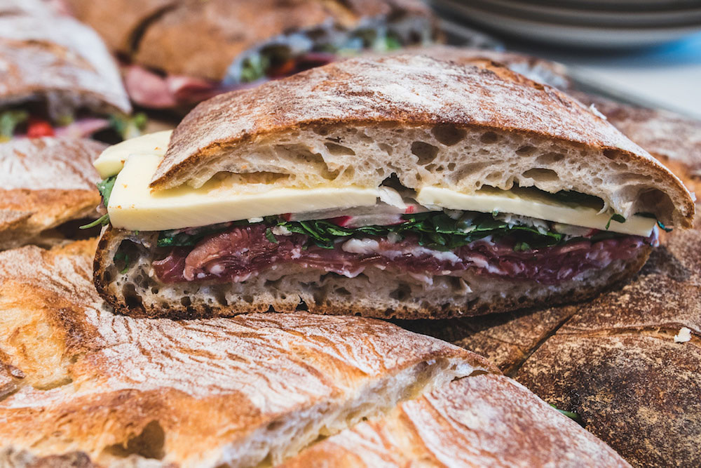 A sandwich from Tartine Manufactory