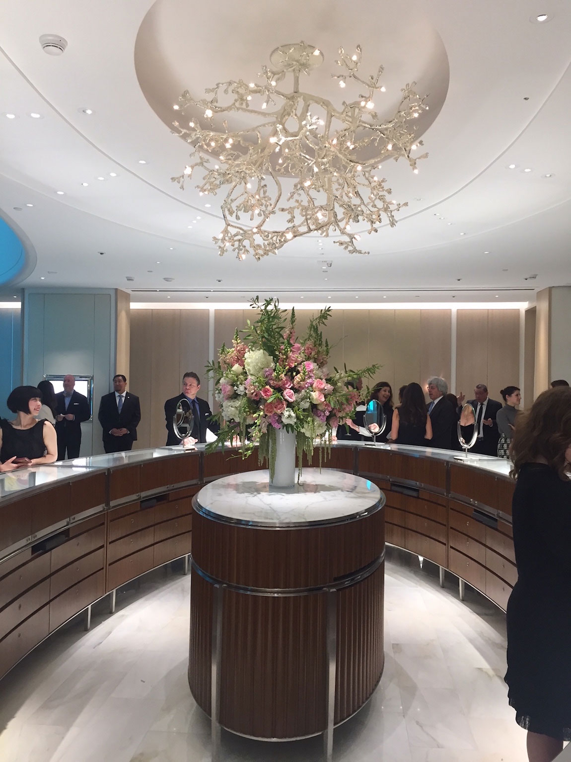 Downstairs at the new Tiffany