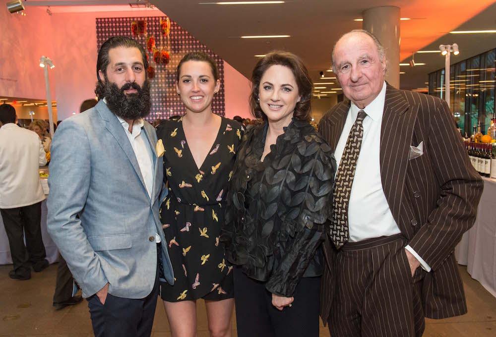 Josh Harris, Ruby Wilson, Lisa Harris and Haig Harris attend Bouquets to Art Opening Night Gala April 4 2016