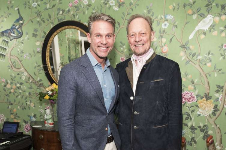 SAN FRANCISCO, CA - March 1 -  Jeffrey Alan Marks and Claud Cecil Gurney attend de Gournay Celebrates Opening of New Boutique on March 1st 2017 at de Gournay Showroom in San Francisco, CA (Photo - Drew Altizer Photography)