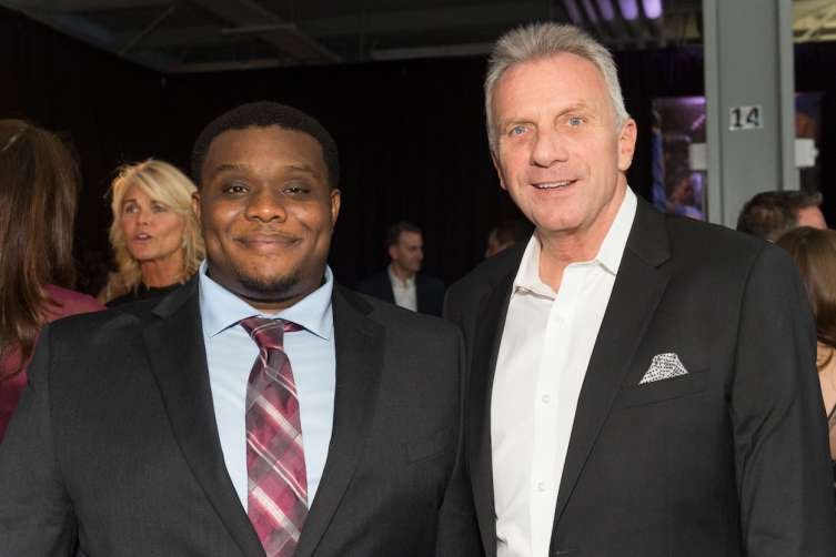 SAN FRANCISCO, CA - March 23 -  Webster Lincoln and Joe Montana attend BUILD Gala 2017 on March 23rd 2017 at James R. Herman International Cruise Ship Terminal in San Francisco, CA (Photo - Susana Bates for Drew Altizer Photography)
