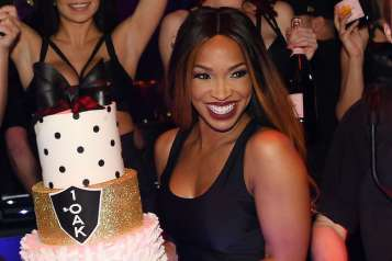 Malika Haqq Celebrates Birthday At 1 OAK Las Vegas Inside The Mirage Hotel & Casino