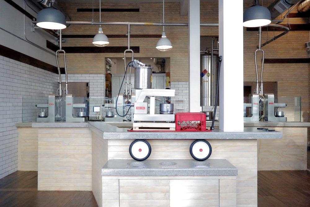The new ice cream shop