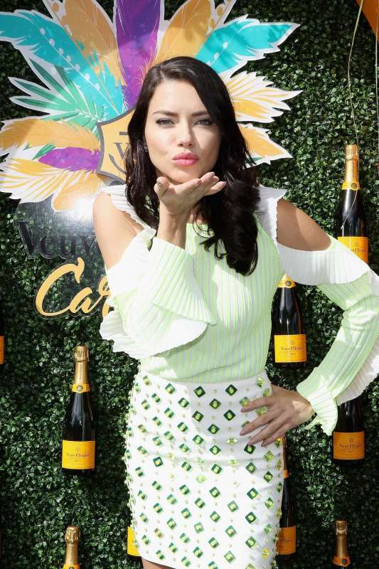MIAMI, FL - MARCH 04: Adriana Lima attends the Third Annual Veuve Clicquot Carnaval at Museum Park on March 4, 2017 in Miami, Florida. (Photo by John Parra/Getty Images for Veuve Clicquot)