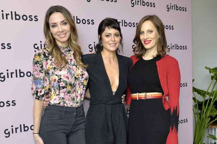 Comedian Whitney Cummings, Girlboss Founder and CEO Sophia Amoruso and author and filmmaker Liz Goldwyn attendthe inaugural Girlboss Rally
