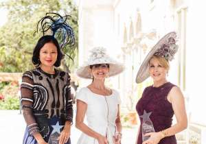Hat Contest Winners Criselda Breene, Beth Tasca and Barbara Hevia