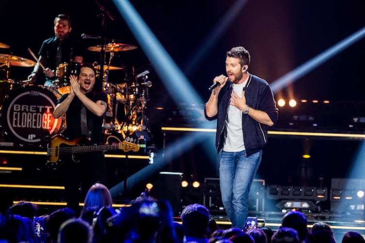 Brett Eldredge performs at the Pearl at the Palms.