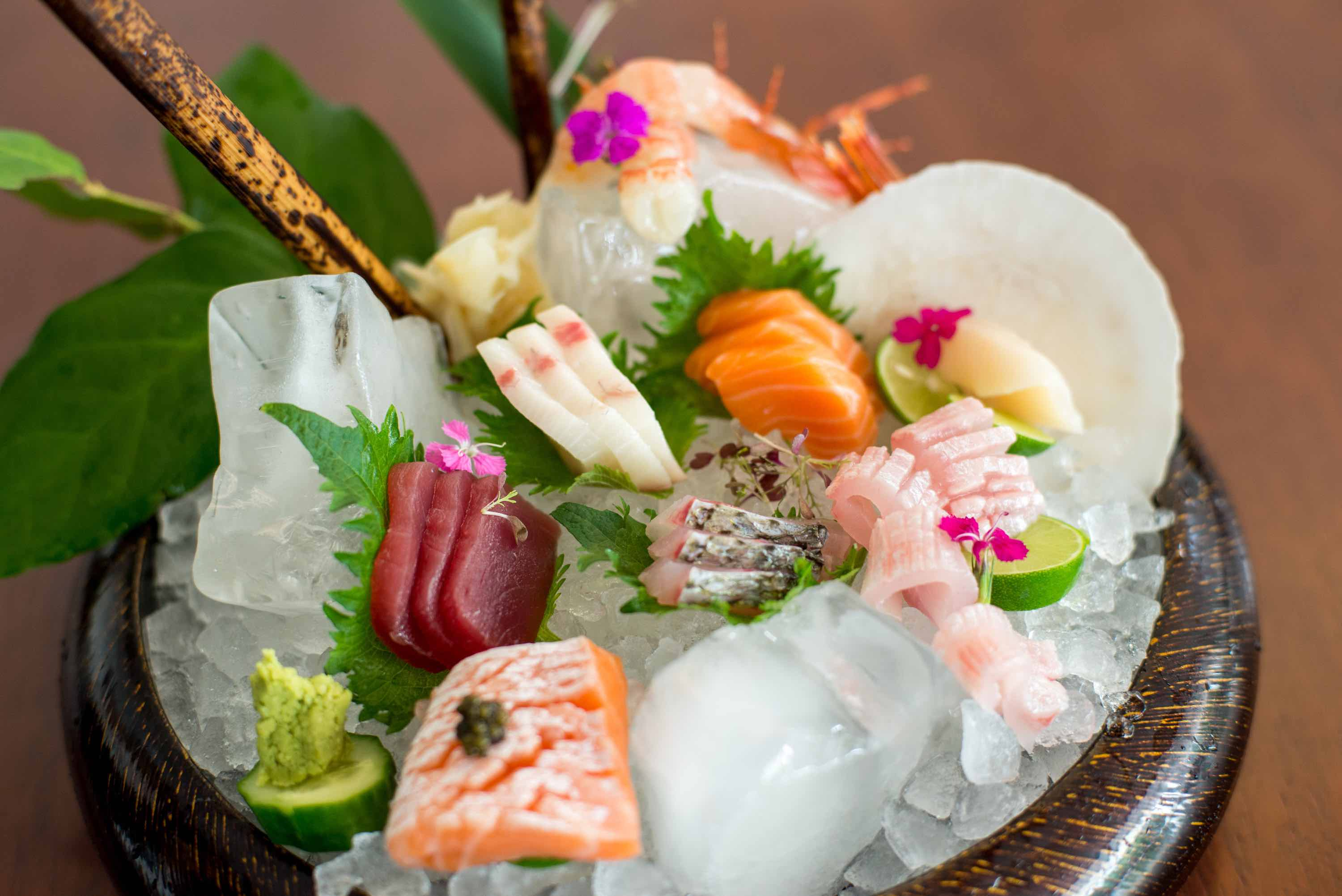 Sashimi platter at Leynia