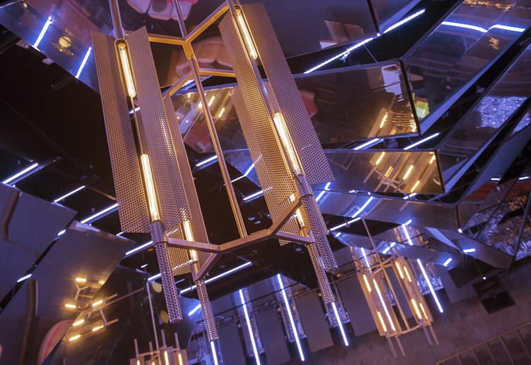 LED lights at NIghtingale Plaza
