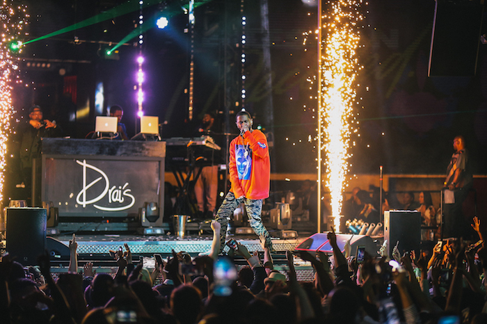 Big Sean performs at Drai's Nightclub.