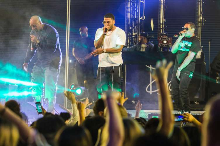 Nelly performs at Drai's Nightclub.