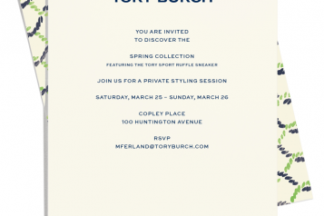 TORY BURCH INVITE