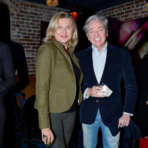 Liliana Cavendish, Geoffrey Bradfield==Jean Shafiroff hosts Surprise Party for Patrick McMullan==49 West 20th Street, NYC==March 17, 2017==©Patrick McMullan==photo - Patrick McMullan/PMC== ==