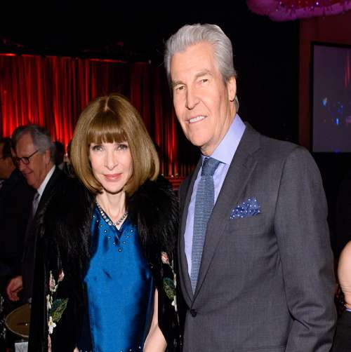 Anna Wintour and Terry Lundgren at the FIT gala honoring Lundgren