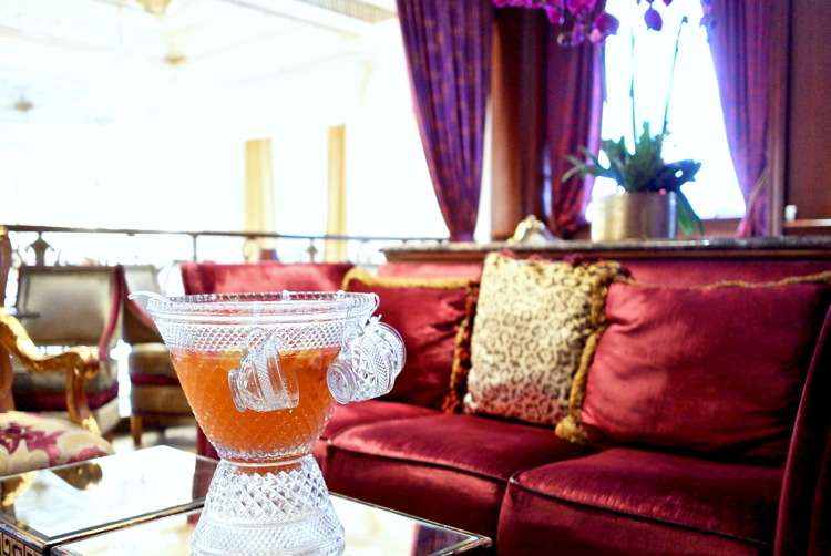 Champagne punch bowl at The Plaza Hotel.