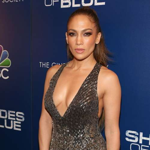 "Jennifer Lopez== NBC and The Cinema Society Host the Season 2 Premiere of ""Shades of Blue""== The Roxy Cinema, NYC== March 1, 2017== ©Patrick McMullan== Photo - Sylvain Gaboury/PMC== =="