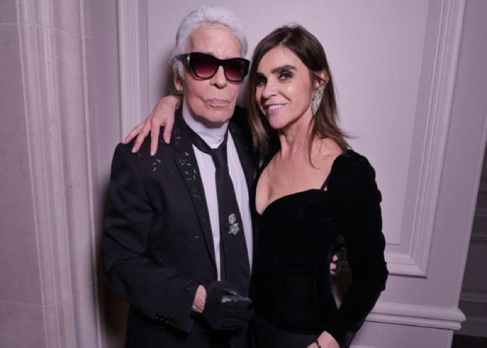 Karine Roitfeld and Karl Lagerfeld