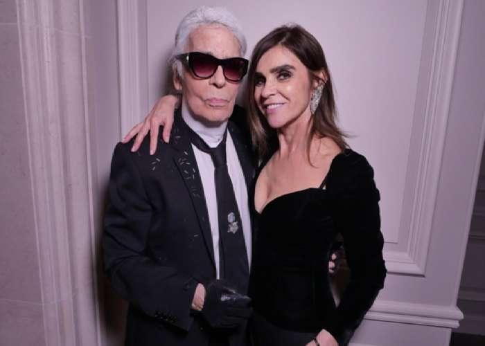 Karine Roitfeld and Karl Lagerfeld