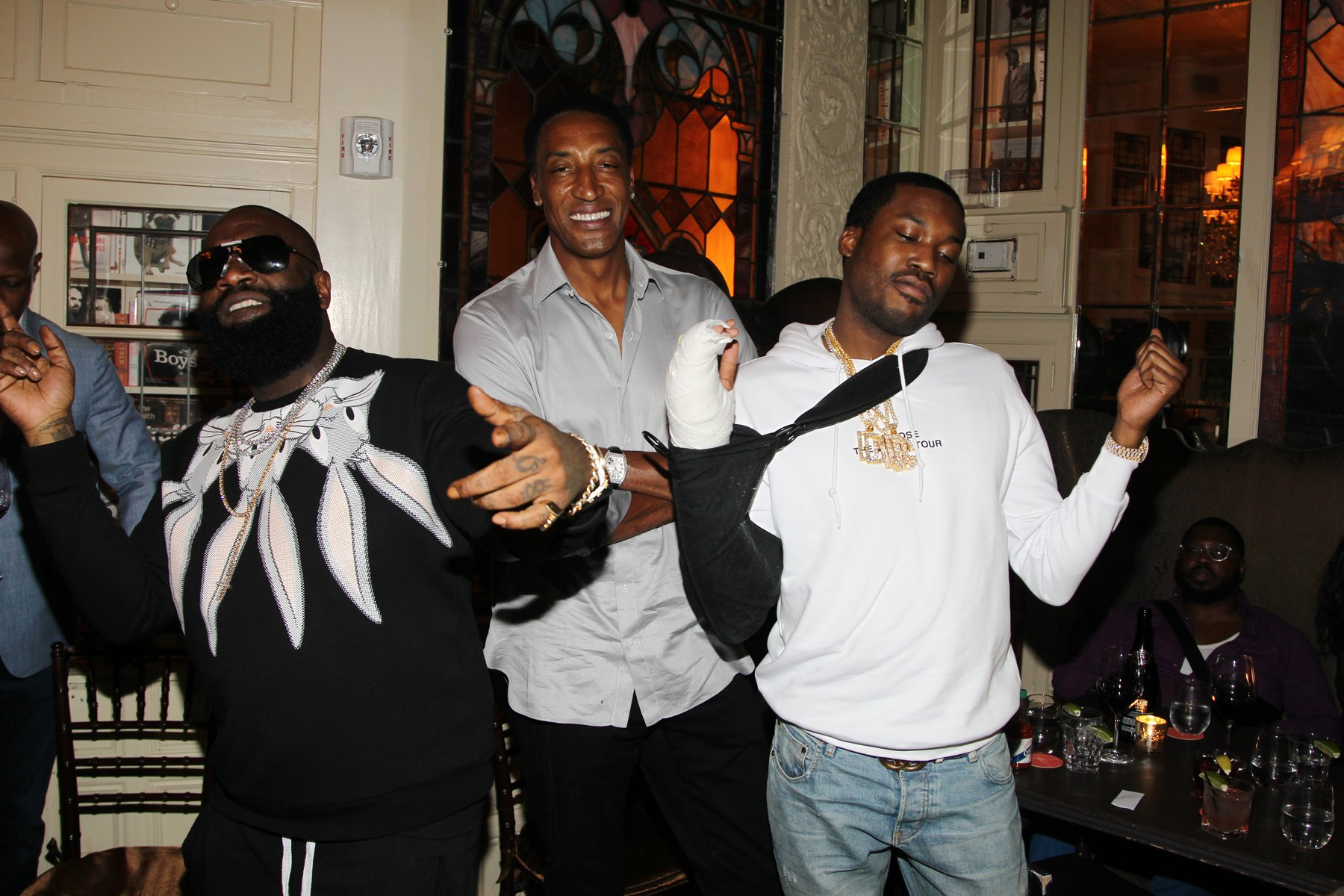Rick Ross, Scottie Pippen, Meek Mill
