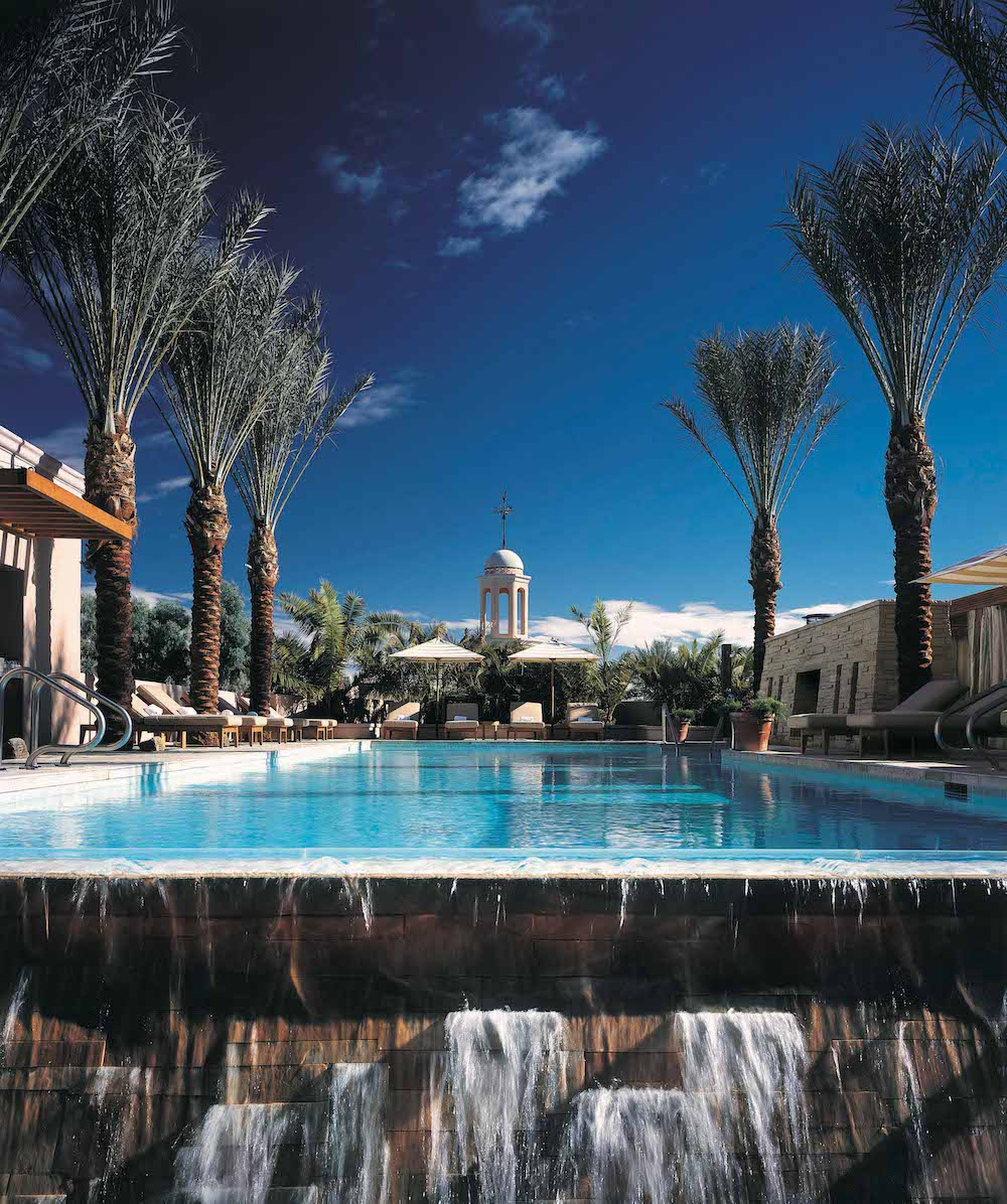 The rooftop pool at the Fairmont Scottsdale Princess spa