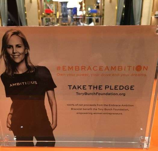TORY BURCH TAKE THE PLEDGE EMBRACE AMBITION