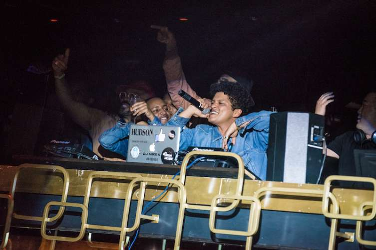 Bruno Mars performs at The Bank Nightclub