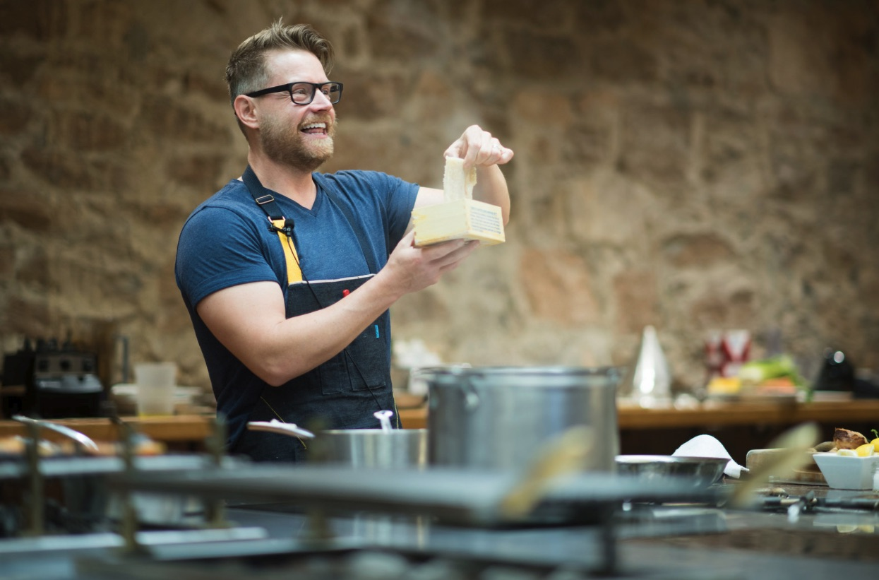 Chef Richard Blais's cooking demo at the 2016 event