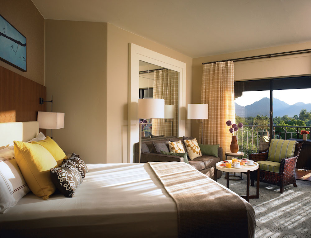 A guest room at the Fairmont