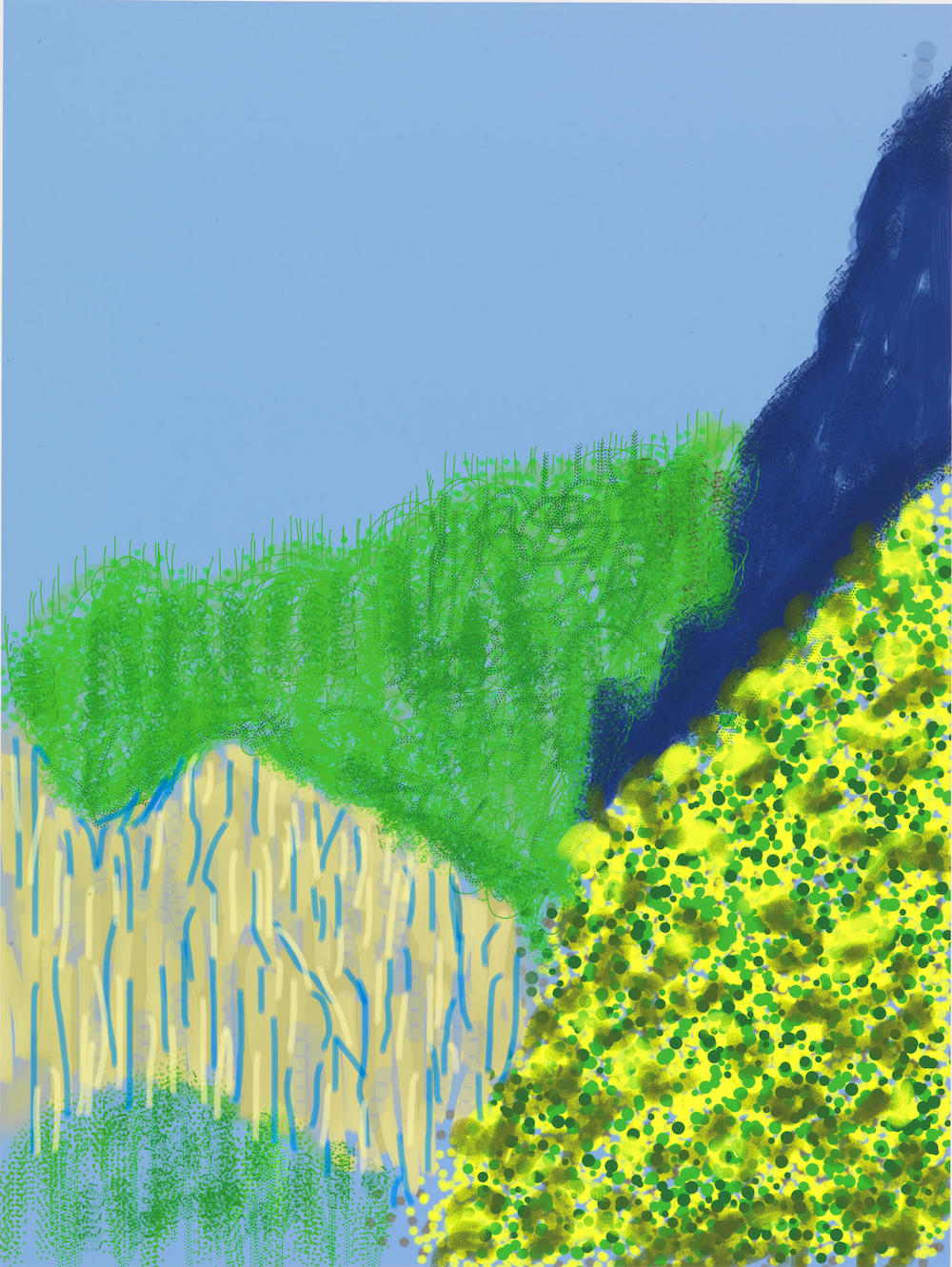 "David Hockney ""Untitled No.3 "" from The Yosemite Suite, 2010"