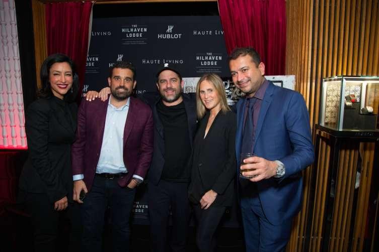 Violet Camacho, Seth Semilof, Brett Ratner, Capucine Huard, and Kamal Hotchandani Celebrate Cover Launch