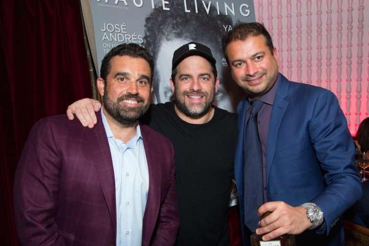 Seth Semilof, Brett Ratner and Kamal Hotchandani