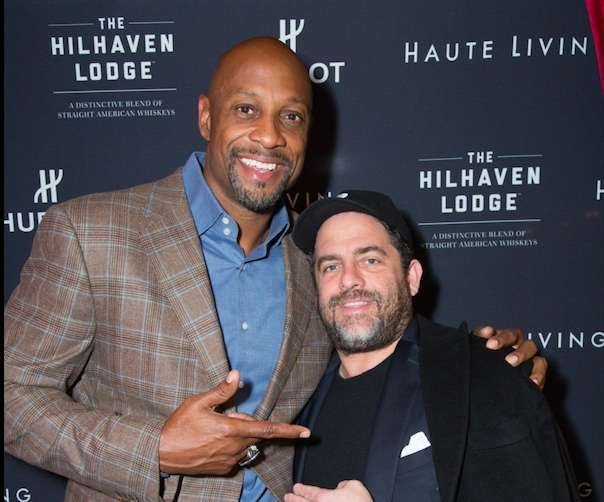 Alonzo Mourning and Brett Ratner