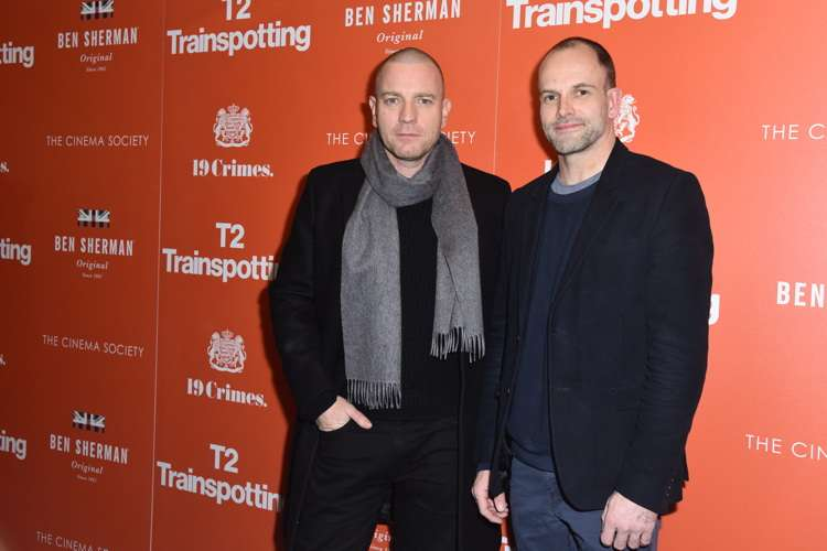 "NEW YORK, NY - MARCH 14:  Ewan McGregor and Jonny Lee Miller attend TriStar Pictures & The Cinema Society Host a Screening of ""T2 Trainspotting"" at Landmark Sunshine Cinema on March 14, 2017 in New York City.  (Photo by Jared Siskin/Patrick McMullan via Getty Images)"