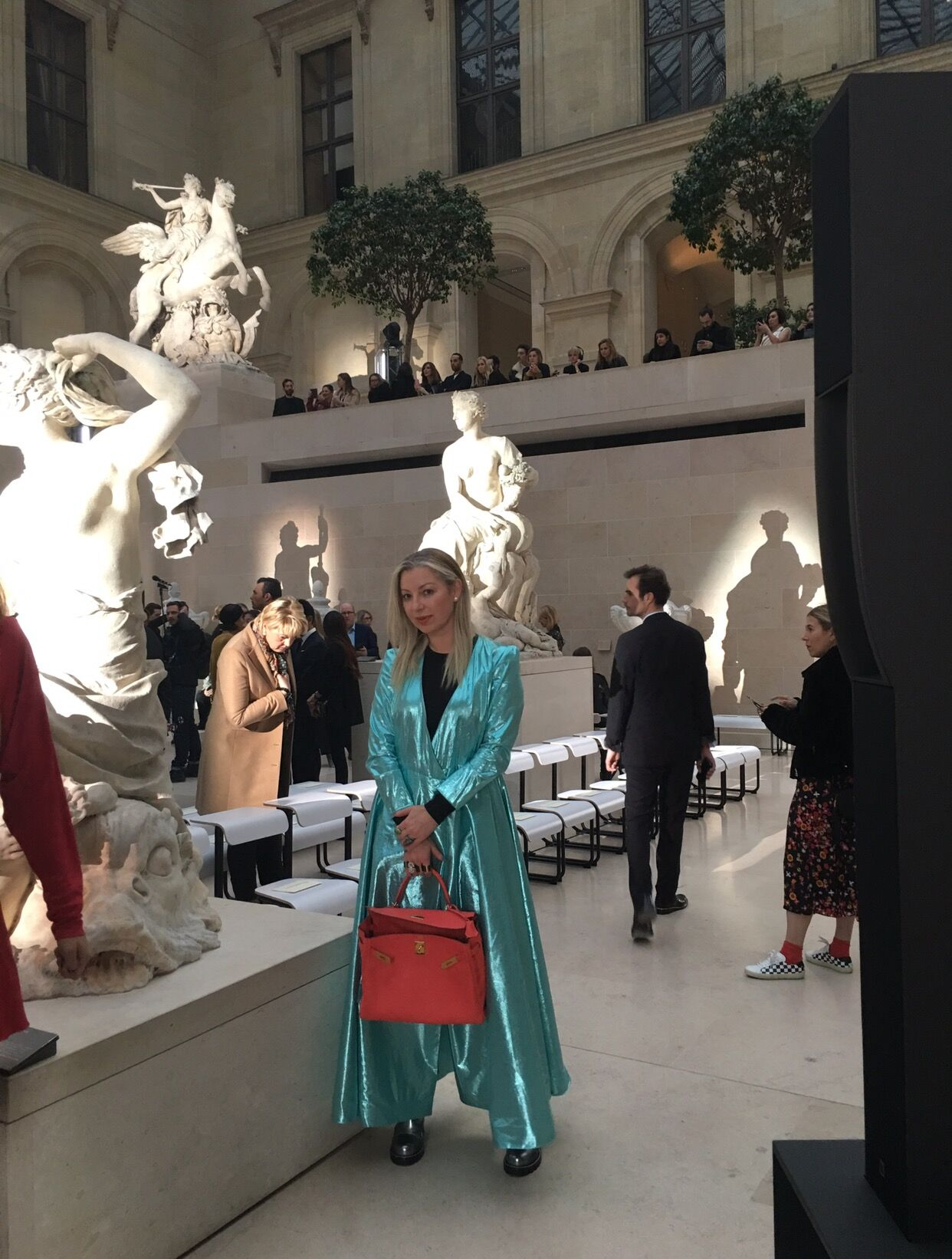 At the Louis Vuitton show