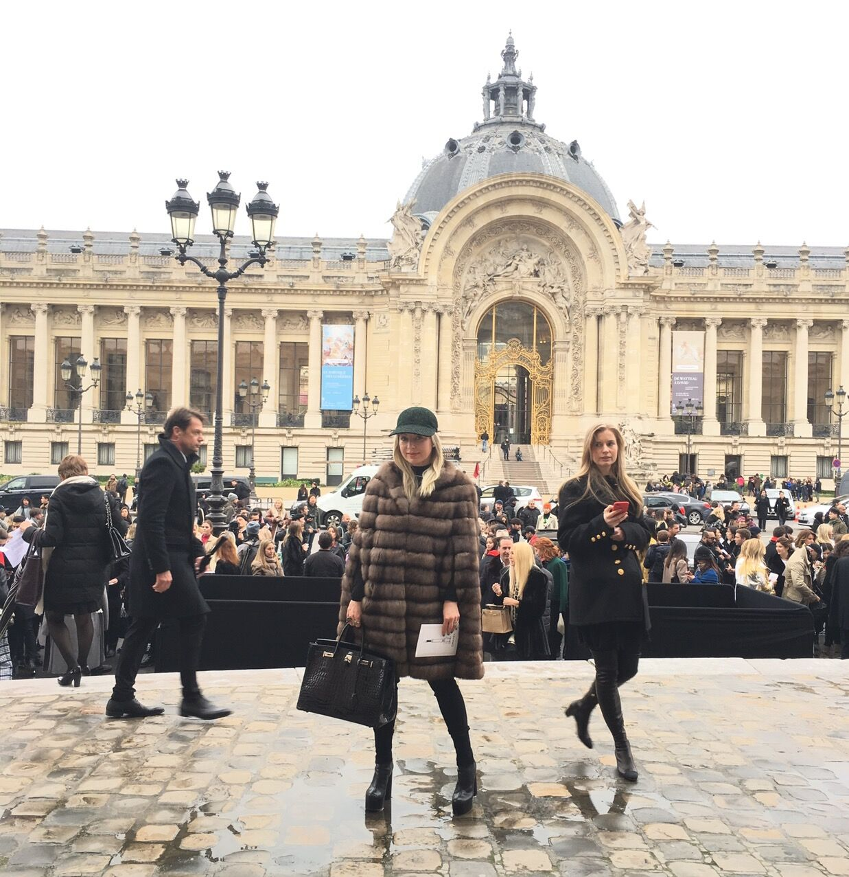 At the Chanel show