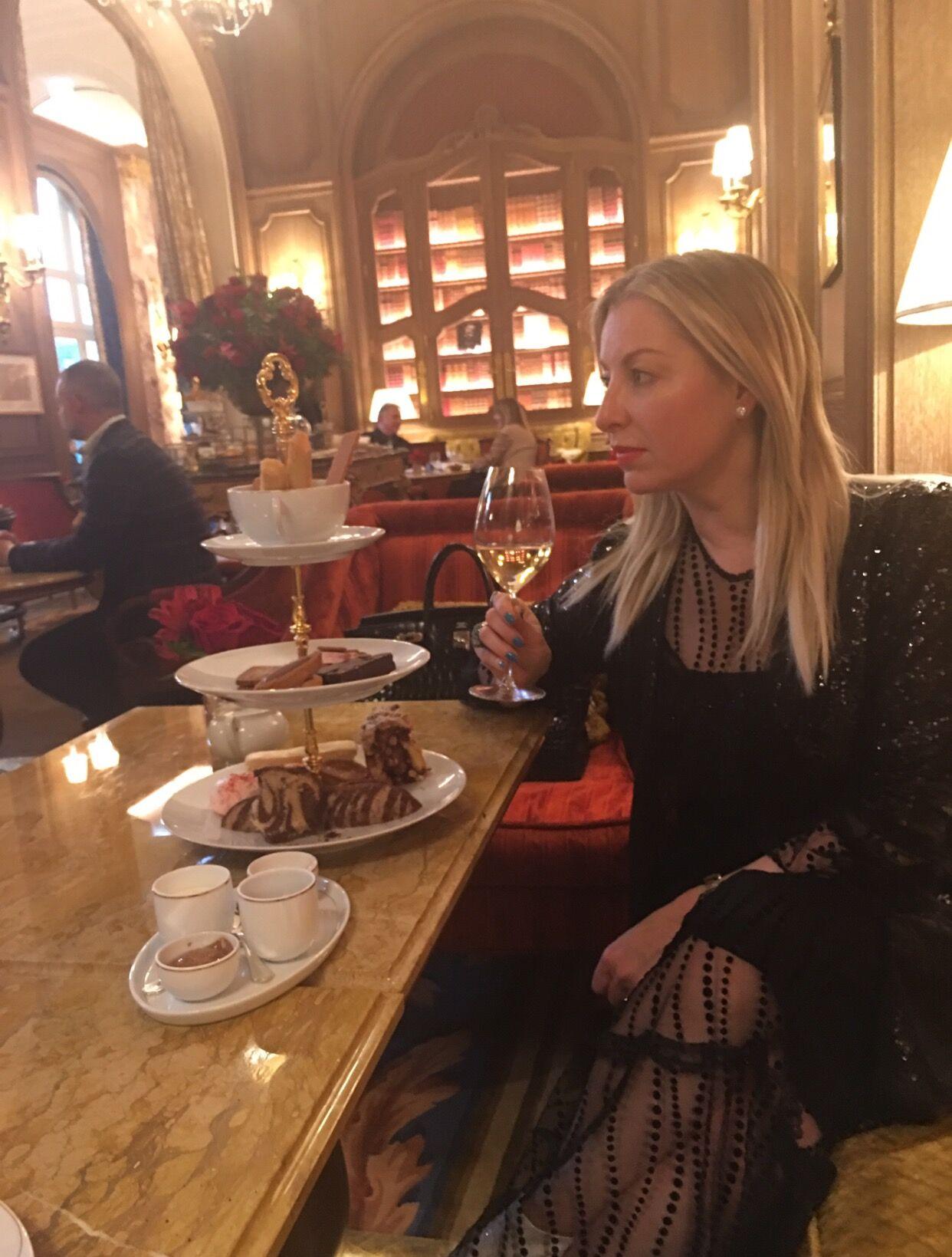 High tea at Salon Proust