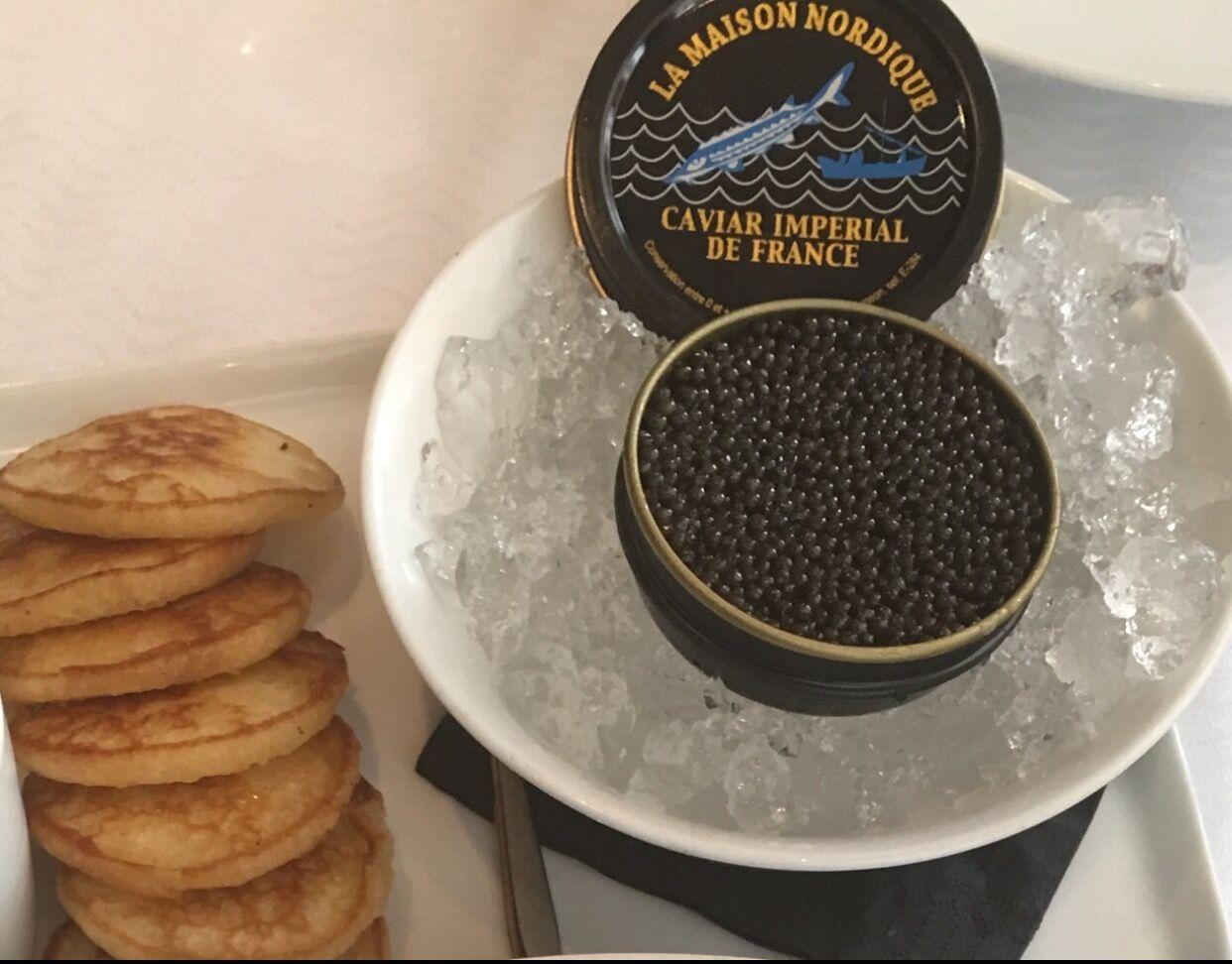 Caviar at Hotel Costes